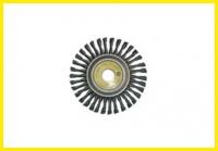 Spiral disk brush